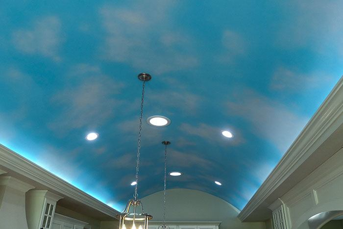 At Heritage we do many different kinds of ceilings as well as textures.